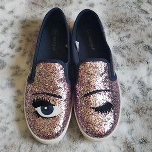 Cat & Jack Glitter Sneakers Size 5